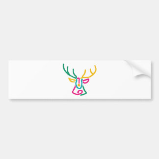 Abstract deer buck bumper stickers