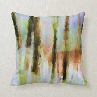 Abstract Deer in the Woods Throw Pillow