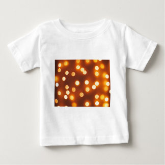 Abstract defocused and blur small yellow lights tshirts