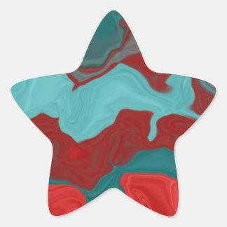 Abstract Delight Star Sticker