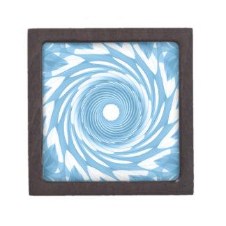 Abstract Denim Whirl Jewelry Box