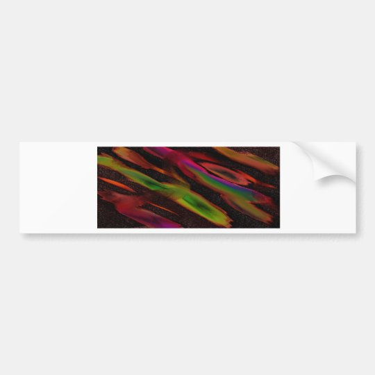 Abstract Depiction of Galaxy Bumper Sticker