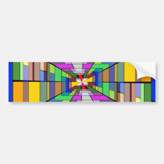 Abstract Depth Bumper Stickers