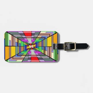 Abstract Depth Luggage Tag