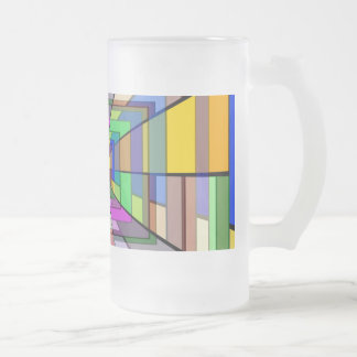 Abstract Depth Frosted Beer Mugs
