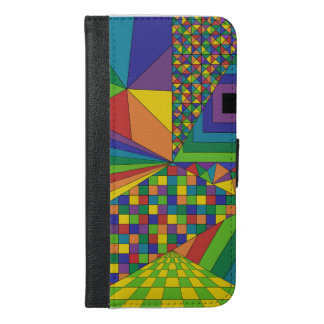 Abstract Design 2 iPhone 6 Plus Wallet Case
