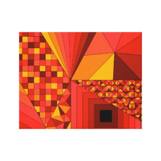 Abstract Design 2 Red Canvas Print