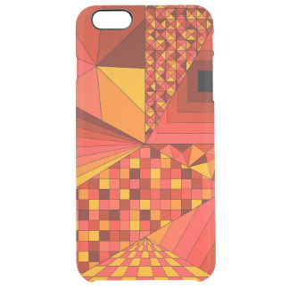 Abstract Design 2 Red Clear iPhone 6 Plus Case