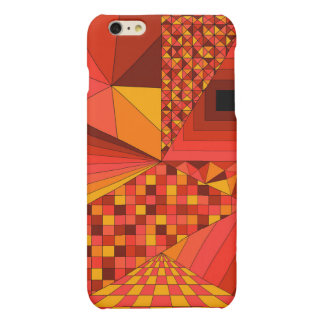 Abstract Design 2 Red Matte iPhone 6 Plus Case