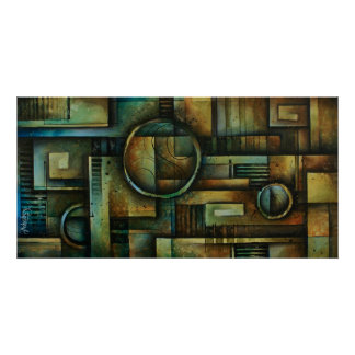 abstract design 92 poster