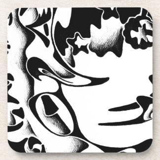Abstract design art coaster