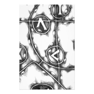 Abstract design art stationery