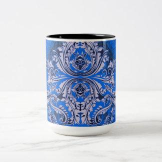 Abstract-Design-Bandanna-Blue(c) Unisex- Two-Tone Coffee Mug