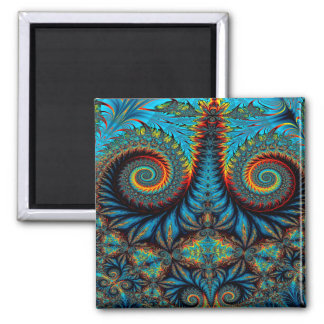 Abstract Design Blue Whirl Background Magnet