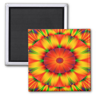 Abstract Design Bright Concentric Circles Magnet