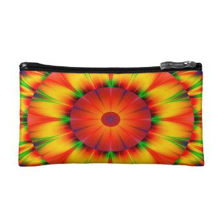 Abstract Design Bright Concentric Circles Makeup Bag