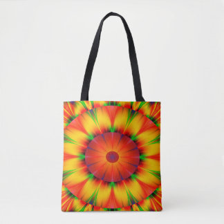 Abstract Design Bright Concentric Circles Tote Bag