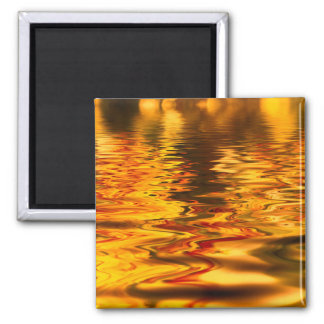 Abstract Design Bright Water Surface Magnet