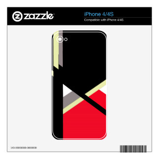 Abstract design by Moma Decal For iPhone 4