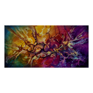 Abstract Design C521 Poster at Zazzle