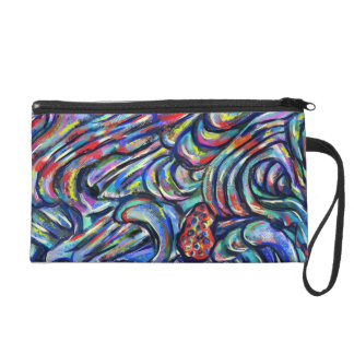 "Abstract design carry bag.. -""Joining"" Wristlet Purse"
