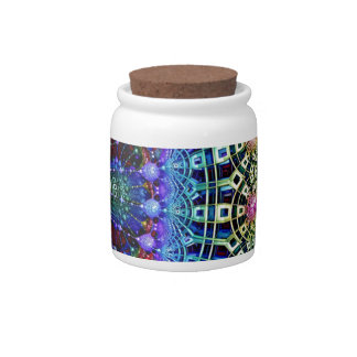 Abstract Design chandelier Multi Colored Candy Jar