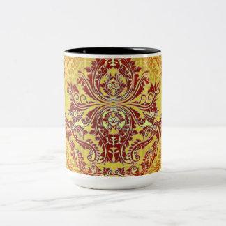 Abstract-Design-Chateau-Vintage (c)__Unisex Two-Tone Coffee Mug