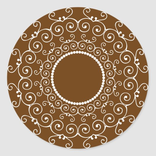 Abstract Design Classic Round Sticker