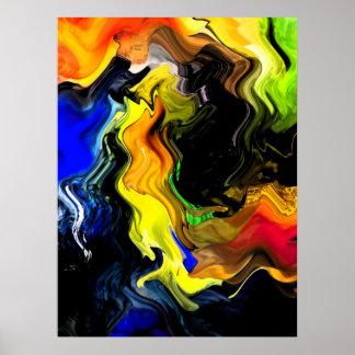 Abstract Design - Color Splash Poster
