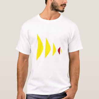 Abstract Design Colorful Partial Ellipses Shirt