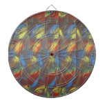 Abstract design dartboard with darts