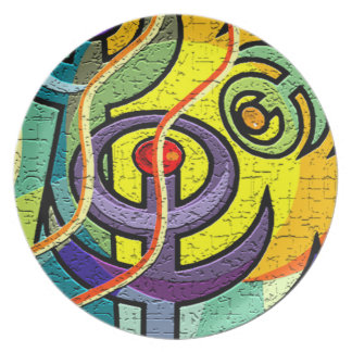 ABSTRACT  DESIGN DECORATIVE PLATE