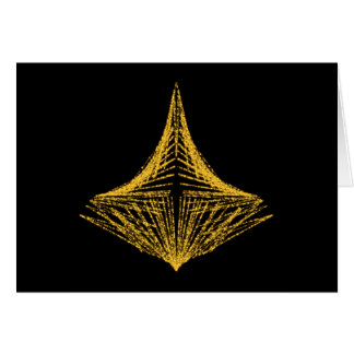 Abstract design, fiery amber and black. card