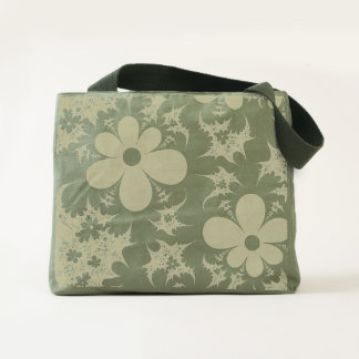abstract design flowers fractal tote