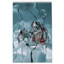 abstract design fractal calendar