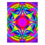 Abstract Design Fractal Geometric Postcard