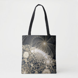 abstract design fractal tote bag