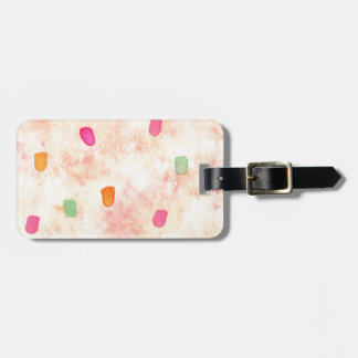 Abstract Design from Original Painting Bag Tag