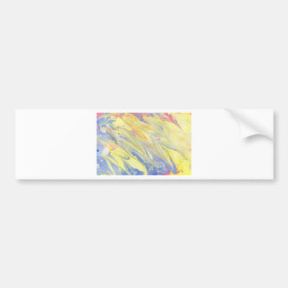 Abstract Design from Original Painting Bumper Sticker