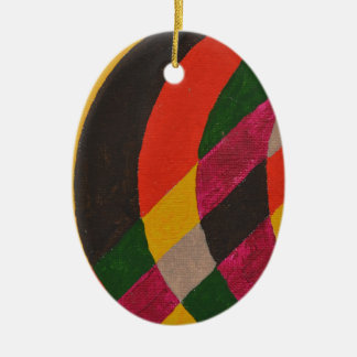 Abstract Design from Original Painting Ceramic Ornament