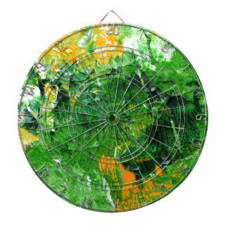 Abstract Design from Original Painting Dart Board