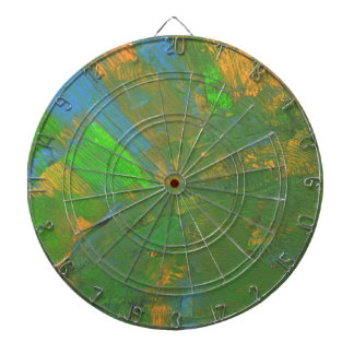 Abstract Design from Original Painting Dart Boards