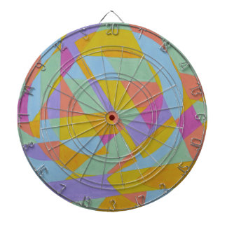 Abstract Design from Original Painting Dartboards