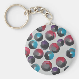 Abstract Design from Original Painting Keychain