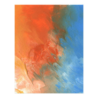 Abstract Design from Original Painting Letterhead
