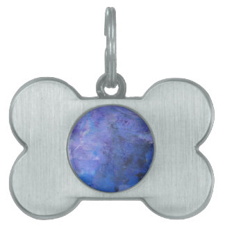 Abstract Design from Original Painting Pet ID Tag