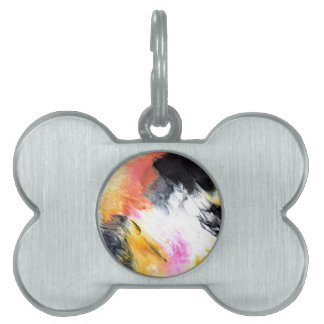 Abstract Design from Original Painting Pet Name Tag
