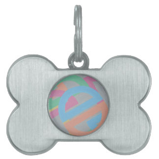 Abstract Design from Original Painting Pet Tag