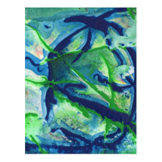 Abstract Design from Original Painting Postcard