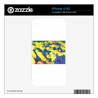 Abstract Design from Original Painting Skin For iPhone 4